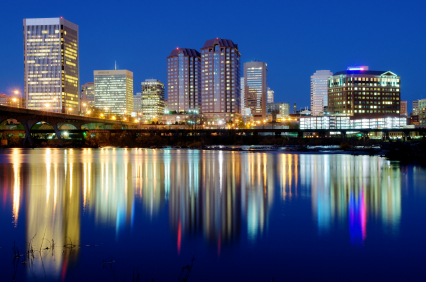 Richmond skyline reflection